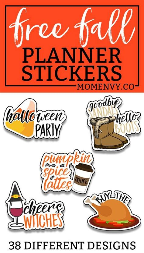Remember making valentine's day cards back in kindergarten, using colored paper and macaroni to greet your classmates? Free Fall Planner Stickers - 38 Different Designs ...