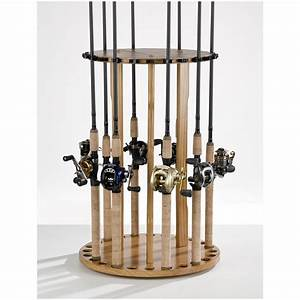 Organized Fishing 24 Rod Round Floor Rod Rack - 231536