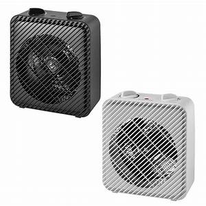 Electric Portable Space Heater Adjustable Thermostat Fan