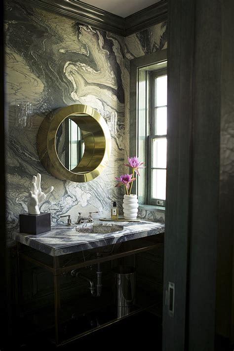 masculine  feminine bathrooms    powder