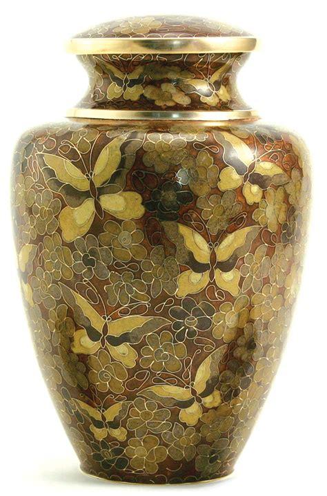 golden butterfly cloisonne cremation urn memorial urns
