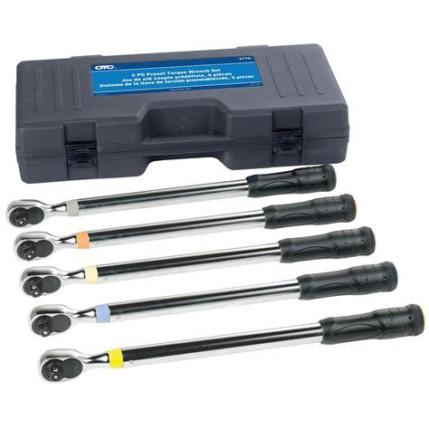 bosch 1 2 in drive preset torque wrench set 5 otc5776 the home depot