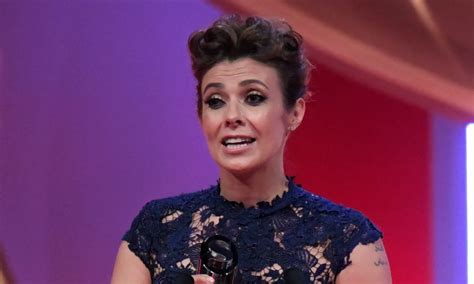 British Soap Awards Kym Marsh Dedicates Her Award To Late