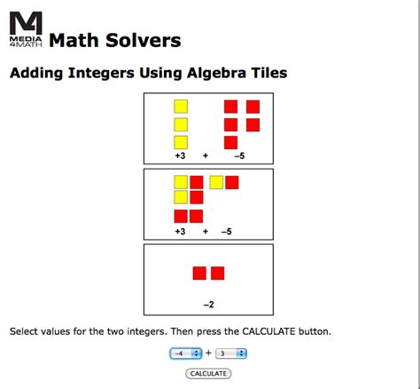 Algebra Tiles Worksheet Solving Equations by Media4math S 187 2013 187 October
