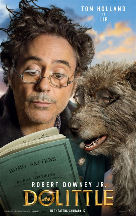 dolittle  character posters introduce  animal