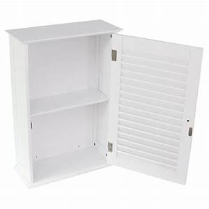 bathroom cabinet wall mounted single shutter door white With discount bathroom wall cabinets