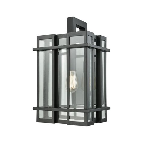 titan lighting glass tower large 1 light matte black with