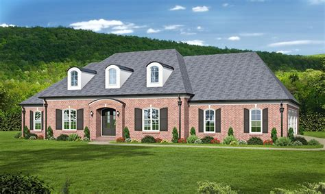 Elegant Acadian Style House Plan With Two Master Suites