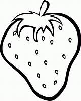 Strawberry Coloring Pages Fresh Colouring Strawberries Clipart Print Fruit Printables Clip Vector Outline sketch template