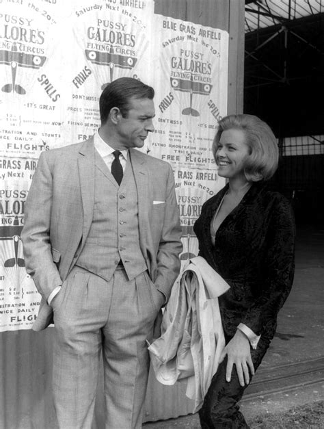 roger moore goldfinger sean connery with honor blackman in goldfinger 1964