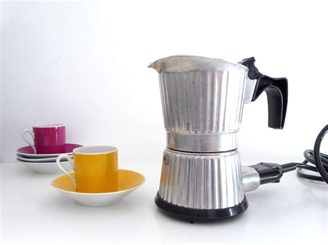 reserved vintage electric coffee maker percolator italian