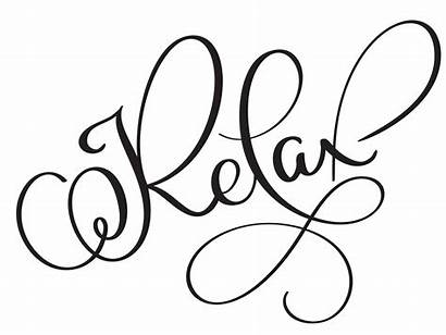 Relax Vector Word Calligraphy Background Illustration Text