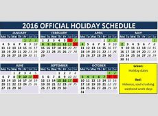 It's Official Here Are Your 2016 Holiday Dates the