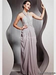 grey chiffon halter neck dress 2016-2017 | B2B Fashion
