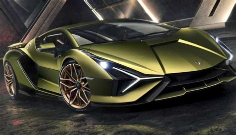 lamborghini sian hybrid sportscar  global debut