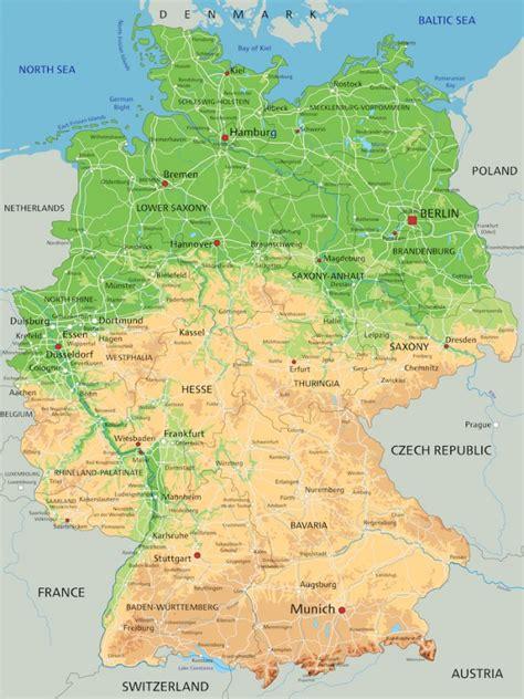 Deutschland Physische Karte - Tapete