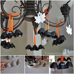 Deco Halloween Diy : creative ideas diy egg carton bats halloween decoration ~ Preciouscoupons.com Idées de Décoration