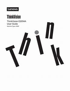 Thinkvision E2054a User Guide Machine Types  60df