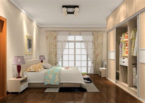 Simple Interior Design Bedroom With Wardrobe