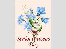 Elegant Flower Happy Senior Citizens Day Card Birthday