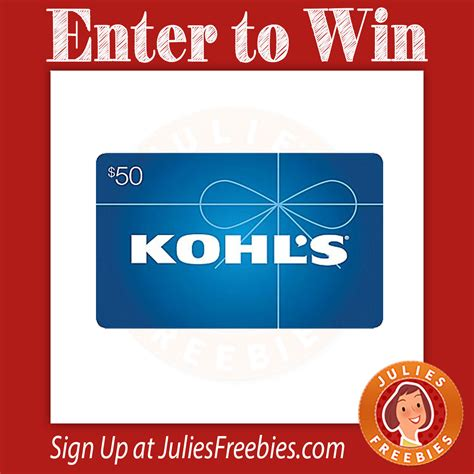 Earn kohl's cash® on every purchase, every day. Win a $1,000 Kohl's Gift Card - Julie's Freebies