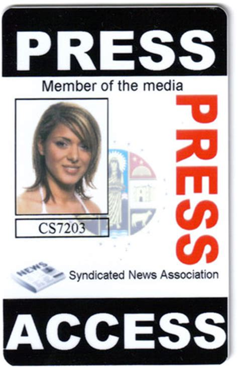 Media Pass Template by Sle Press Passes El Vaquero Graphics Team
