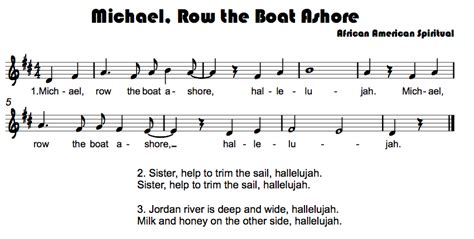 Row The Boat Ashore Piano by Songs With Whole Notes Beth S Notes