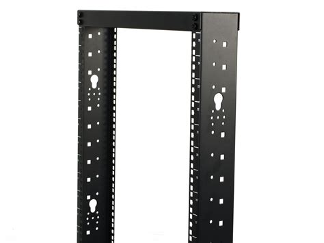 networx  post open frame network relay rack  cold rolled steel  cage nut rails
