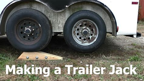Boat Trailer Axle Jack by Making A Tandem Axle Trailer Jack Youtube