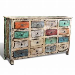 Schreibtisch Shabby Chic Look : shabby chic kommode aus massivholz ~ Lizthompson.info Haus und Dekorationen