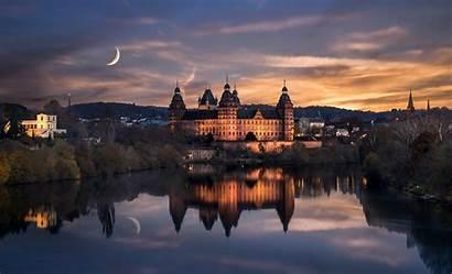 Castle Germany Night Johannesburg Wallpapers Aschaffenburg Deutschland