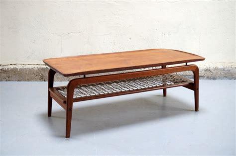 table de salon scandinave table basse scandinave de salon danois teck design 233 es 50 60 70 corde vintage mobler