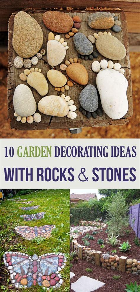 garden decorating ideas  rocks  stones gardens