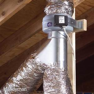use an in line fan to vent two bathrooms the family handyman With install bathroom exhaust fan duct