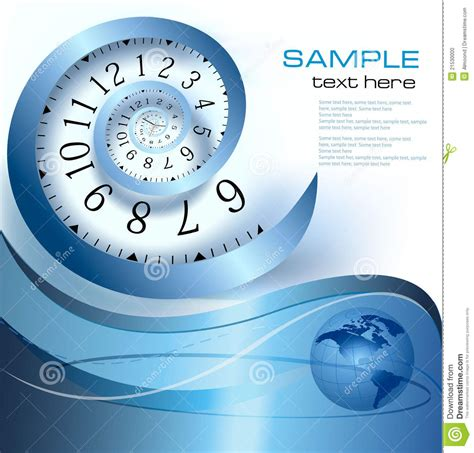 abstract background  infinity time stock vector