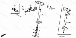 Honda Atv 2002 Oem Parts Diagram For Steering Shaft