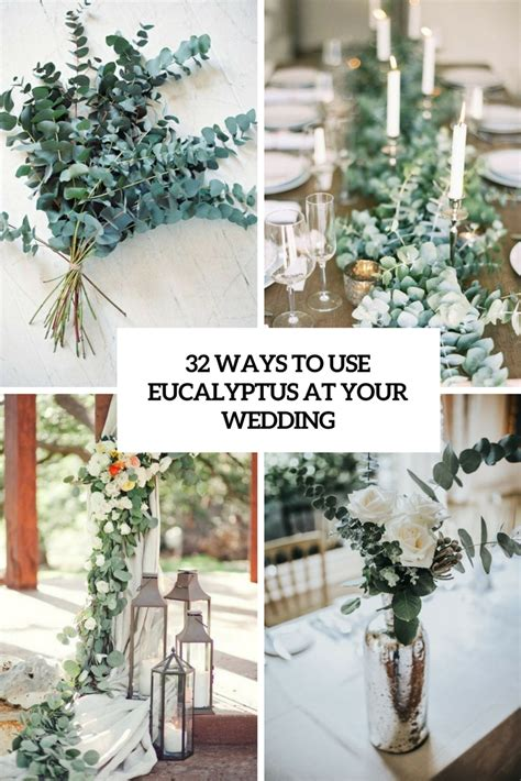diy table runner ideas 32 ways to use eucalyptus at your wedding weddingomania