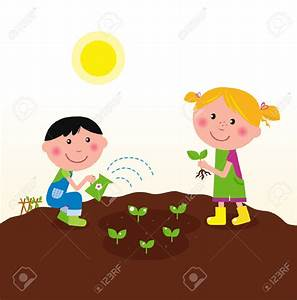 Kids Planting Trees Clipart (72+)