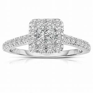 half carat princess cut halo diamond engagement ring in With white gold princess cut diamond wedding rings