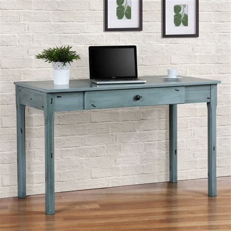 distressed wood computer desk writing home office desk industrial rustic wood table