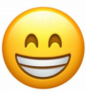 A version of the grinning face showing smiling eyes. This ...