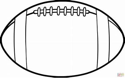 Coloring Football Ball American Pages Printable Drawing