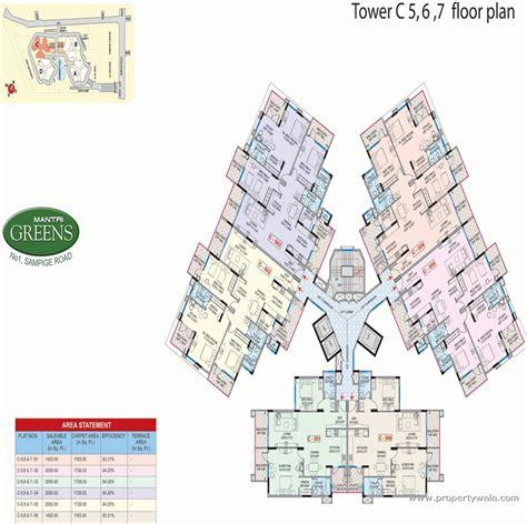 plot plans mantri greens malleshwaram bangalore apartment flat