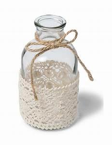 Petit Vase En Verre : petit vase en verre et dentelle 10 cm d coration anniversaire et f tes th me sur vegaoo party ~ Teatrodelosmanantiales.com Idées de Décoration