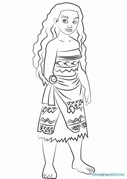 Coloring Pages Moana Easy Cartoon Dragon Printable