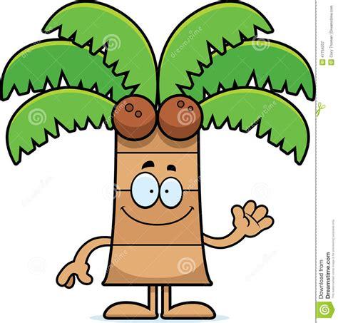 cartoon palm tree waving stock vector image 47754207