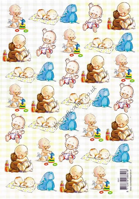 baby  toys designs  decoupage sheet