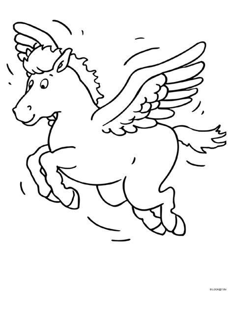 Kleurplaat Paard Met Vleugels kleurplaat paard met vleugels kleurplaten nl