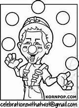 Juggling Kornpop sketch template