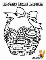 Easter Pages Basket Coloring Baskets Printable Yescoloring Egg Empty Printables Boys Handsome sketch template